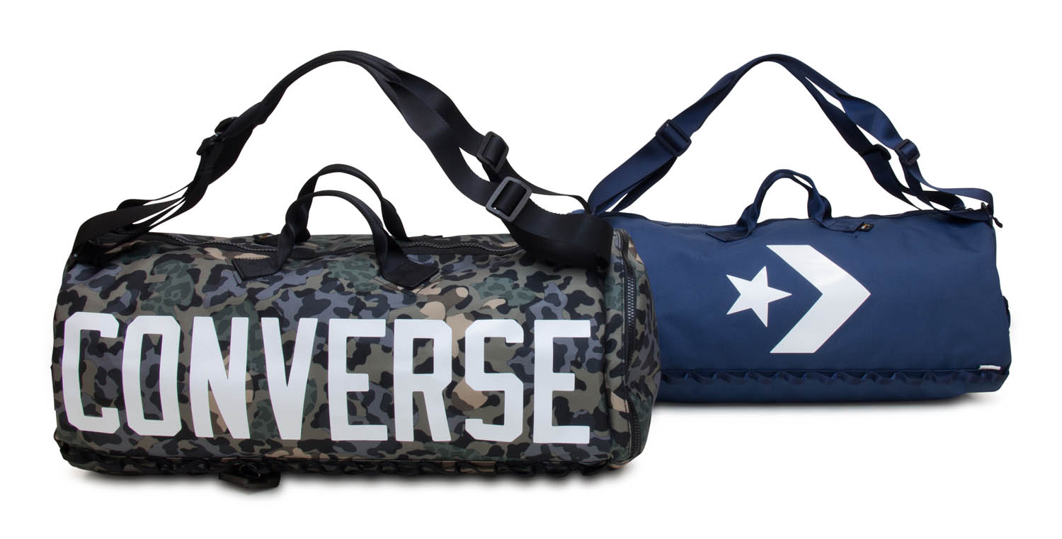 Two different colorways of the same Converse bag displayed side by side