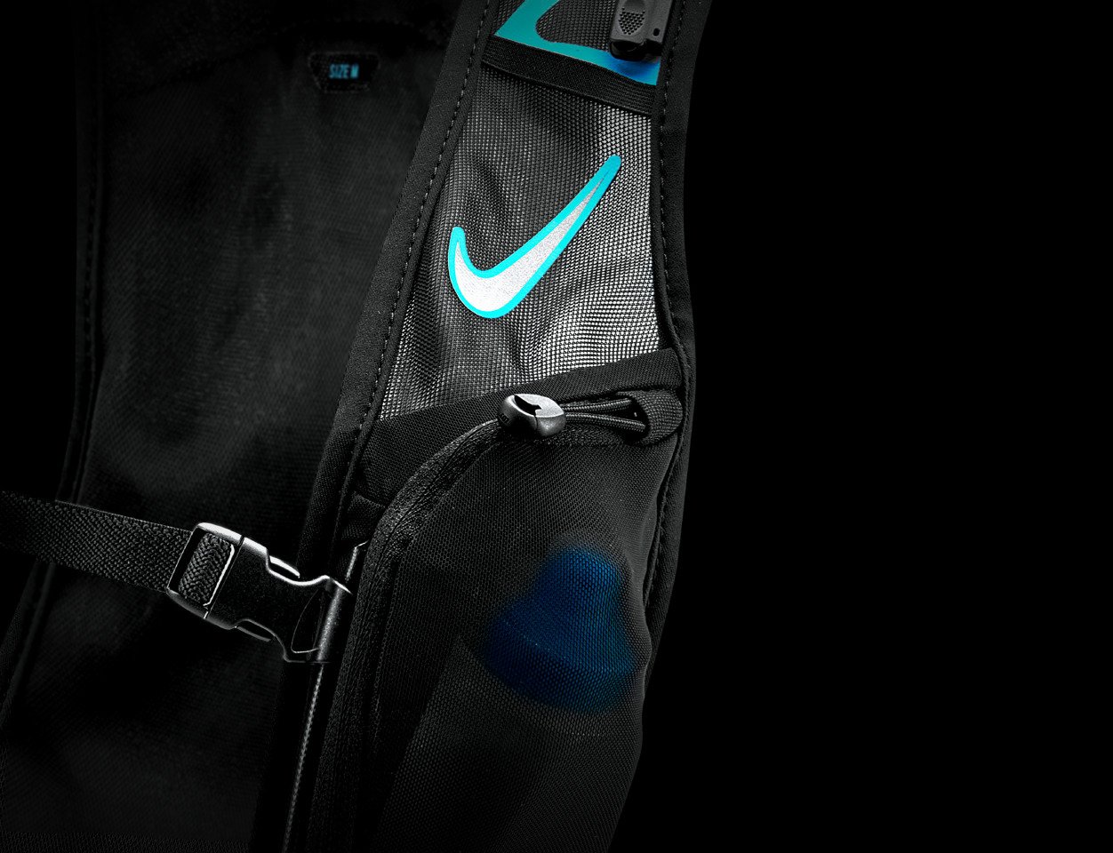 Een close-up van een Nike tas